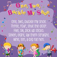 Eén twee gesp mijn schoenenposter