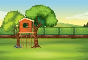 Ein Baumhaus in der Natur