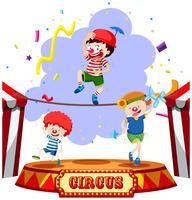 Crianças, executar, em, a, circo