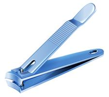 Um cortador de unhas azul