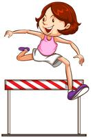 A hurdling athletics character
