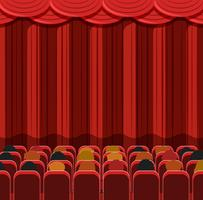 People in a cinema scene