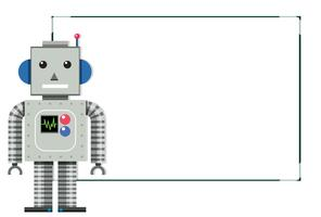 Een moderne robot witte banner