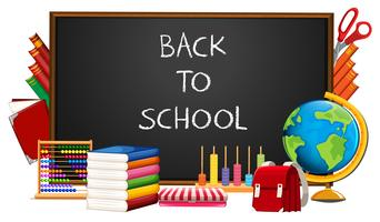 Back to school and elements vector