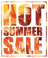 Summer SALE. Vector template.