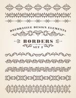 Vector Ornaments Borders. Elementi decorativi di design.