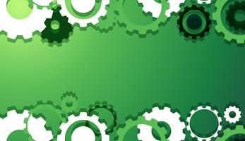 Background design with gears on green