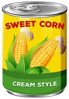 Can of cream style sweet corn
