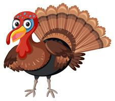 A turkey on white background vector