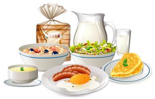 Sats med frukostmat