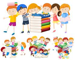 Group of children and book