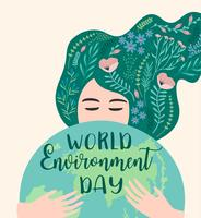 World environment day. Vector template.