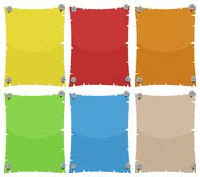 Paper template in six colors