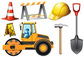 Road roller and other road equipment