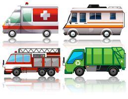 Verschiedene Arten von Lastwagen