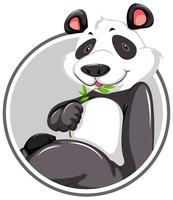 Una plantilla de etiqueta de panda