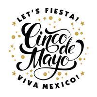 Cinco de Mayo brilhante design de letras.