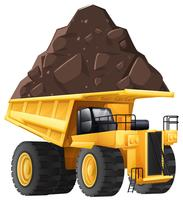 Dumper Truck on White Background
