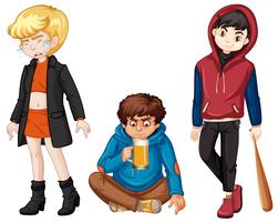 Set of urban troble kids