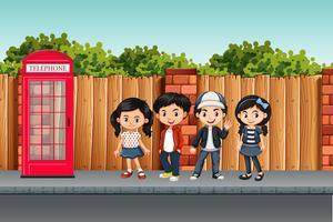 Leuke straatscène voor kinderen