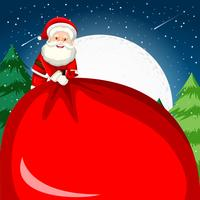 Père Noël tenant un grand sac
