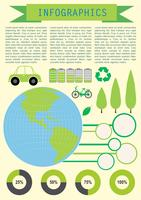 Infochart zeigt den Planeten Erde