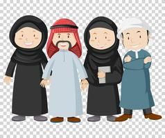 Muslim people on transparent background