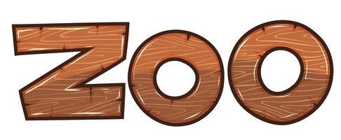 Design de fonte para zoológico de palavra