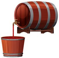 Un vettore di Red Wine Barrel