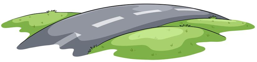 Narrow and winding road
