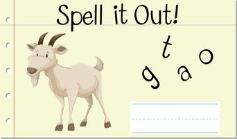 Spell English word goat