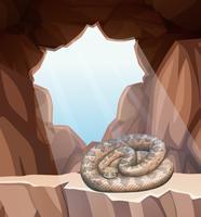 Serpiente en escena de la cueva