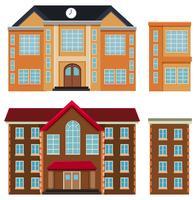 Sats av olika byggnader