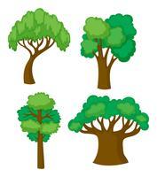 Bäume in vier verschiedenen Formen