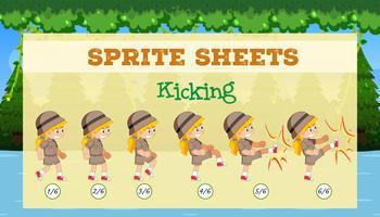 A sprite sheet kicking game template