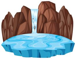 Isolated nature waterfall landscape vector