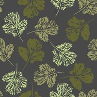 Modelo inconsútil del otoño abstracto con las hojas.