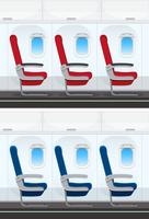 Conjunto de diseño de asiento de avión