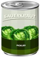 Eine Dose Sauerkraut