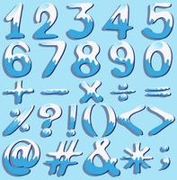 Colored numbers and symbols