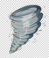 Un ciclón sobre fondo transparente.