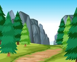 Flat road in nature vector