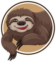 A sloth sticker template