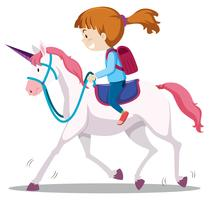 A Young Girl Riding Horse