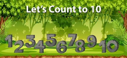 lets count to 10 jungle scene