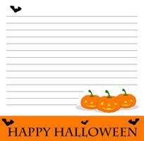 Line paper template with halloween theme