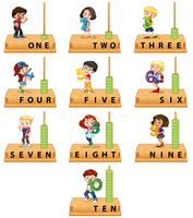 Abacus number character set