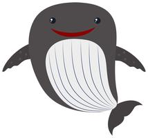 Whale with happy face