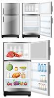 Kühlschrank mit Lebensmitteln im Lager