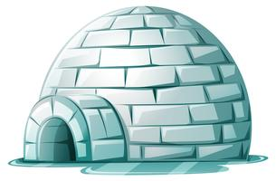 Igloo su terreno ghiacciato